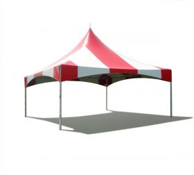 20 x 20 High Peak Frame Party Tent - Red Striped