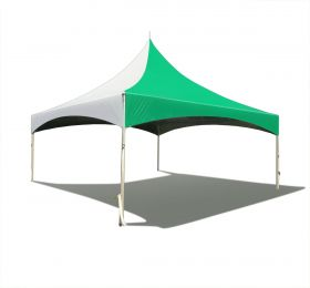 20 x 20 High Peak Frame Party Tent - Green Solid