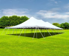40' x 80' Premium Sectional Canopy Pole Party Tent - White