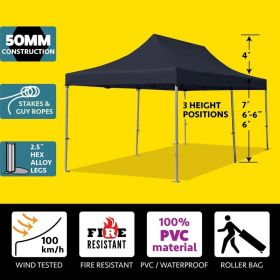 10' x 20' 50mm Speedy Pop-up Party Tent - Black
