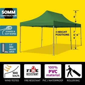 10' x 20' 50mm Speedy Pop-up Party Tent - Green