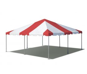 20' x 20' West Coast Frame Party Tent - Red and White
