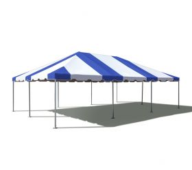 20' x 30' West Coast Frame Party Tent - Blue and White