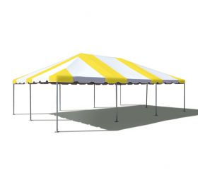 20' x 30' West Coast Frame Party Tent - Yellow and White