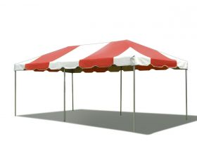 10' x 20' PVC Weekender West Coast Frame Party Tent - Red