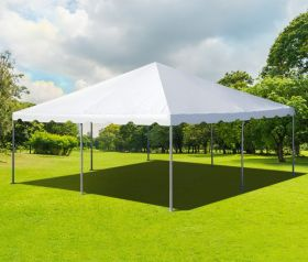 20' x 20' PVC Weekender West Coast Frame Party Tent - White