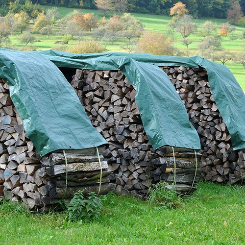 Buy Water Resistant Poly Wood Pile Tarp for Sale