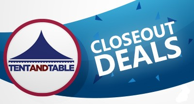 Tent & Table Closeout Deals