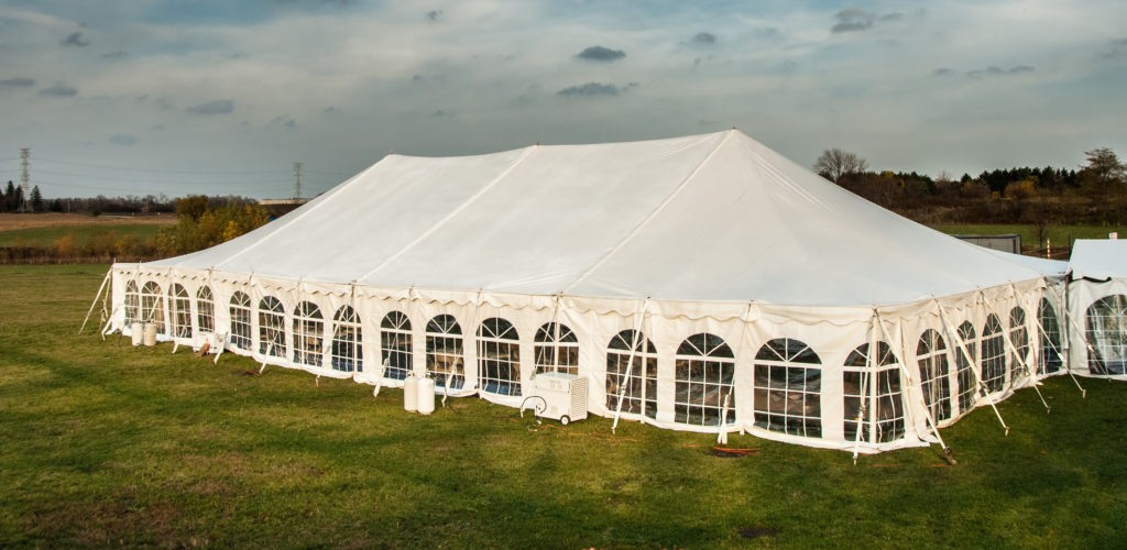 The history of party tents has led us to beautiful modern heated canopy shelters