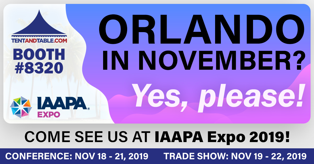 Visit Tent and Table at IAAPA 2019