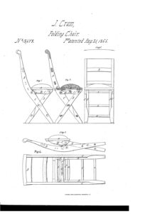 John Cram Invented the first modern-style folding chair in 1855